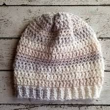 Crochet Beret Pattern Delectable Easy Slouchy Crochet Beanie Pattern Hooked On Homemade Happiness