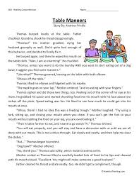 Table Manners Worksheet Free Worksheets Library | Download and ...