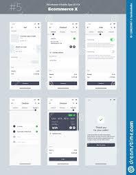 Design Address Wireframe Kit For Mobile Phone Mobile App Ui Ux Design