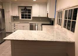 carrara white bianco quartz kitchen countertops anti stain wear resistence