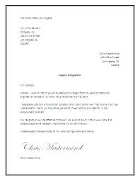 Letter Of Resignation Templates Word Formal Letter Of Resignation Templates For Letters Of Resignation