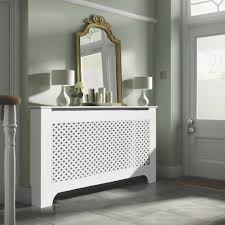 Richmond Medium White Painted Radiator Cover Departments Diy