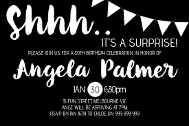 Surprise Party Invitation Template Postermywall