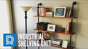 Industrial Bookcase Diy Build A Diy Industrial Pipe Shelving Unit Youtube