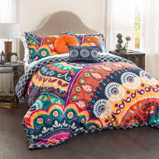 Maya Quilted Comforter Navy/Orange 5-Piece Set, King - Walmart.com &  Adamdwight.com