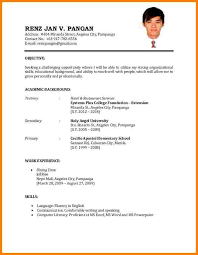 Sample Resume Format Adorable Simple Resume TM Stunning Resume Sample Format Reference Of Sample