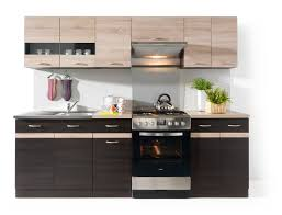 Red White Kitchen Line 240 Kitchen Set Wenge Sonoma Polish Black Red White