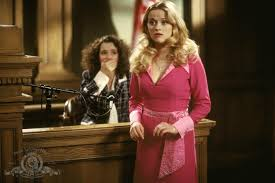 legally blonde movie pictures fashion  elle woods reese erspoon wears a pink dress embellished sash in the courtroom