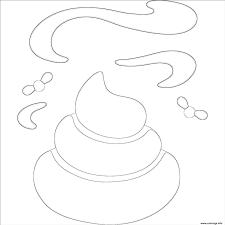 Coloriage Caca Emoji Emoticon Dessin