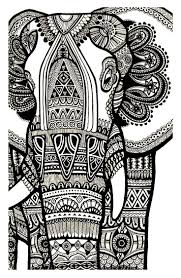Free Coloring Page Coloring Elephant Te