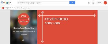 google plus header size