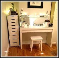 vanity table lighting. White Makeup Vanity With Lights Table Set W Bench Lighting