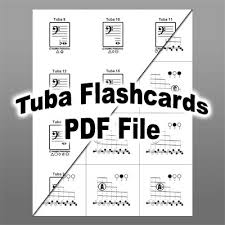 Tuba Fingering Chart And Flashcards Stepwise Publications