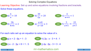 complex linear equations mr