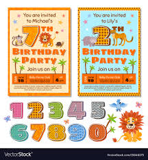 kids birthday party invitations children birthday party invitation card