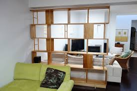 Bookcase Room Dividers Two Functions In One Furniture Home Bookcase Divider