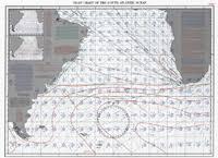 South Atlantic Ocean Pilot Chart For March 1995
