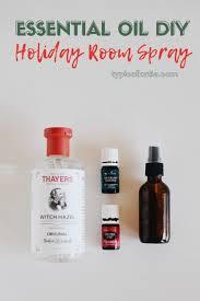 diy essential oil holiday room spray
