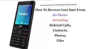 how to recover lost data from jio phone