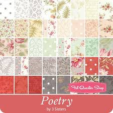 Poetry Prints Charm Pack 3 Sisters for Moda Fabrics - Charm Packs ... & 3 Sisters for Moda Fabrics Adamdwight.com