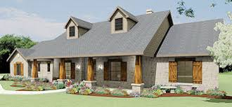 Texas Farm House Plan  3112 Square Foot 4 Bedroom Version French Country Ranch Style House Plans