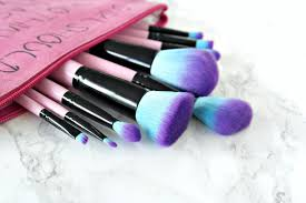 spectrum brushes mermaid. spectrum collections, 10 piece essential kit, review,pink makeup brushes mermaid n