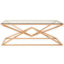 allure rose gold coffee table