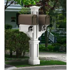 double mailbox post plans. Rockport Plastic Double Mailbox Post, White Post Plans H