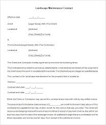 landscape maintenance proposal template landscape maintenance contract templates rome fontanacountryinn com