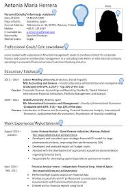 International Biodata Format Poland Cv Sample Careerprofessor Works