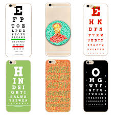 Eye Test Chart For Phone Us 1 11 14 Off Vision Test Chart Hard New Clear Phone Case Cover For Samsung S8 S9plus S6 S7edge S5 For Iphone 7 6s 8plus 5s 5c 4 X Xs Xr Xsmax In