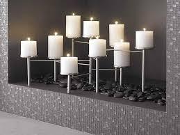 image of fireplace candle holder design