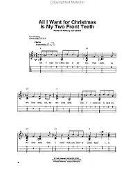 all i want for christmas is my two front teeth sheet music buy ukulele scores sheet music christmas carols holidays