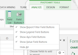 How To Hide Field Buttons In Pivot Chart