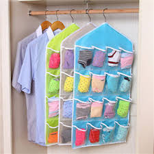 Clothes hanging shelf Rack Image Is Loading Rackstorageclosetwardrobehangingshelforganizer16 Ebay Rack Storage Closet Wardrobe Hanging Shelf Organizer 16pockets For