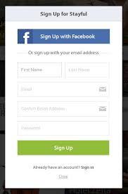 Stayful online signup form design example | Form | Pinterest ...