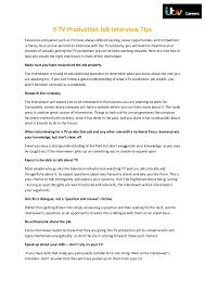 Career Interview Tips 9 Tv Production Job Interview Tips