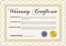 Sample Warranty Certificate Template Vector Illustration