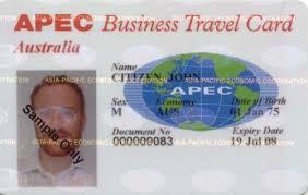 Apec Asia Pacific Economic Cooperation Business Travel Card