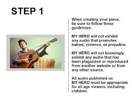 my hero create hero audio