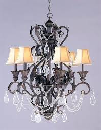 wrought iron crystal chandelier 6 lights dark rust wrought iron crystal chandelier white wrought iron crystal