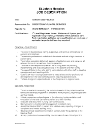 Job Description For Nurses Resume Director Of Nursing Resume Sales Nursing Lewesmr 44