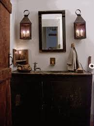 primitive bathroom lighting. primitive bath looks great but i would have either had hooks that looked like bathroom lighting
