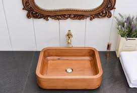 china square bathroom basin made of oak for decorating wooden wash basin sink china basin sink