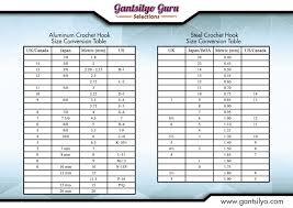 crochet hook size chart gantsilyo guru crochet hook conversion