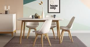 Wood Modern Dining Table Design Kenji 6 Seat Dining Table Oak And White