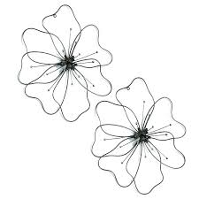 black metal floral wall art