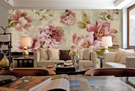 Lilac Bedroom Wallpaper Pastoral Small Fresh Peony Rose Mural Background Wall Mural 3d