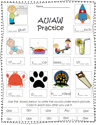 Aw phonics and phonemic awareness activities. Pin By Can T Stop Smiling On Best Teaching Tips Tools Word Families Phonics 1st Grade Worksheets