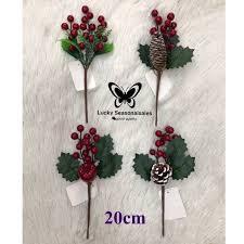 (<b>1pc</b>)Red <b>Christmas Berries</b> Beans Artificia Flowers HomeDecor ...